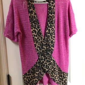 Pink and Leopard open back top